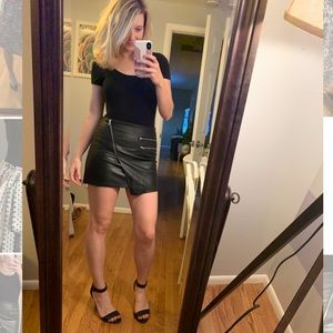 Sexy Faux Leather Mini Skirt!